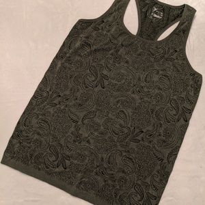 Old Navy Active Olive Paisley Racerback